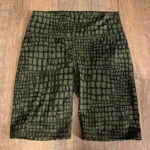 Fabletics Crocodile Print Biker Shorts
